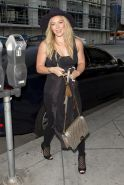 Hilary Duff see through to her left nipple out in LA