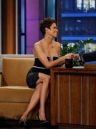 Halle Berry showing huge cleavage at The Tonight Show with Jay Leno in Burbank