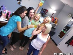 Drunk college girls throw a biggest slut dorm party