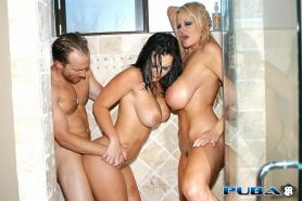 Jayden Jaymes and Kelly Madison get fucked in the shower