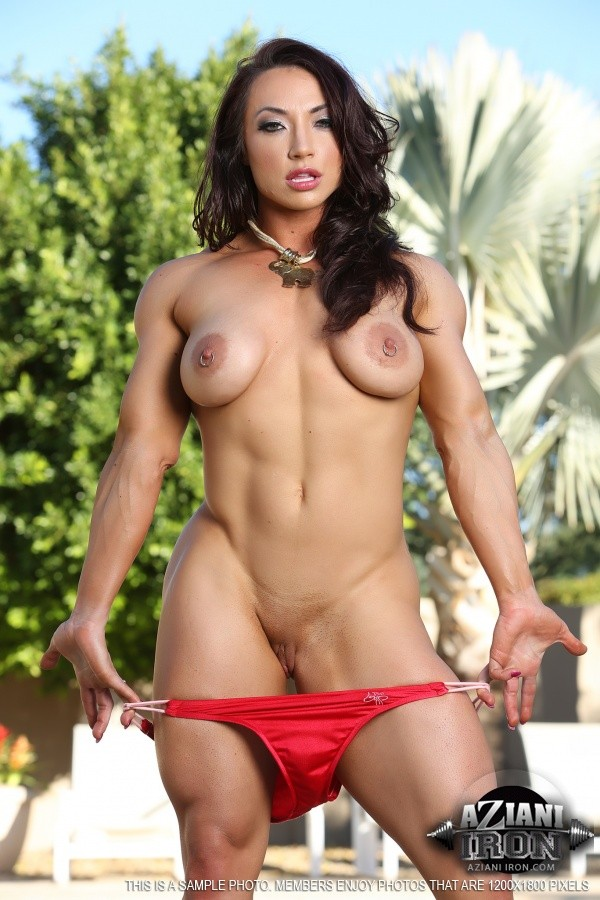 Ripped abs on naked babe with big clit #71023265