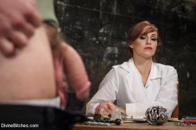 Studly and perverted Kip Johnson visits Bella Rossi's Divine Chastity Clinic in