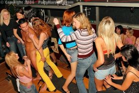 :: PARTY HARDCORE :: Muscular strippers banging horny girls on wild groupsex par