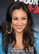Francia Raisa looks hot wearing skimpy belly top at the Getaway premiere in West
