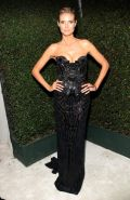 Heidi Klum showing huge cleavage at Elton John AIDS Foundation Academy Awards Vi