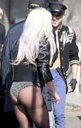 Lady Gaga shows juicy thong ass in lingerie