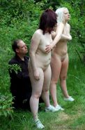 Outdoor spanking trainingcamp for two female slaves in extreme punishments to te
