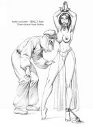vintage female erotic bondage drawings
