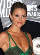 Maria Menounos busty  leggy wearing skimpy dress at the 2011 MTV Video Music Awa