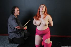 Amateur spanking to tears and extreme domination of redhead slavegirl Nimue