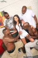 White hottie Trinity st Clair gets pussy and anal sex with black men