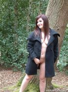 Girl next door Dolly in public flashing madness by busy british roads
