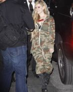 Avril Lavigne showing off her spiky bra at the 'Jimmy Kimmel Live' show in Holly #75218034