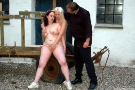 Two slavegirls outdoor spanking training camp and extreme bdsm punishments to te