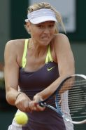 Maria Sharapova flashing her yellow panties at the French Open, day 2