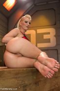 Cherry Torn busty blonde dominatrix is feet fucking sexy army guy