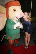 Beautiful celeb Emma Watson nice upskirt and making out with rat