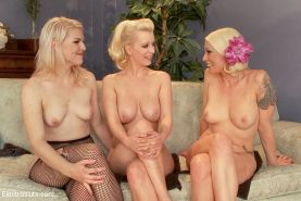 Cherry Torn is rope bound and electro toyed by lezdoms Ella Nova and Lorelei Lee