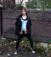 Indian teen Zarina Masoud pissing in public and flashing hairy pussy outdoors #78605291