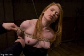 Madison Young excited in bondage and gets her pussy tormented