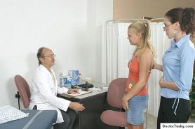 Sexy young blonde gets Gyno Exam