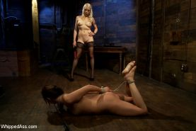 Cute 20 year old tries lesbian BDSM for the very first time