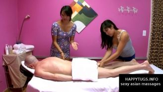 Sexy double asian massage