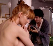 Laura Linney showing her nice tits and hairy pussy in nude movie scene