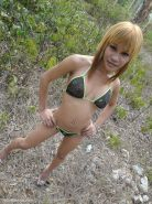 Hot Blonde Ladyboy Girlfriend Flashing In Public Shemale Hottie