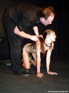 Trashed humiliation and rough objectified puppy training of kinky collared fetis