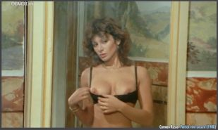 Italian busty actress Carmen Russo nude from a vintage movie