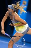Maria Sharapova flashing her panties at the Australian Open in Melbourne