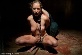 Bondage slave Dia Zerva trained by two doms #72145080