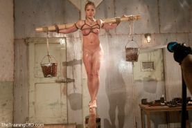 Bondage slave Dia Zerva trained by two doms #72145119