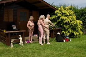 Horny mature grannies outdoor sex orgy