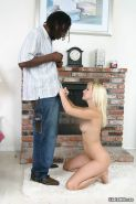 Lovely Erin Moore in interracial fuck with blowjob