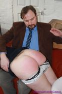 Hardcore amateur spanking and merciless caning of Pandora Blakes bare bottom