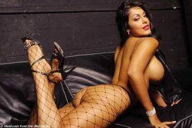 XXX Latina Pornstar Nina Mercedez rips off her fishnets and shows you her sweet