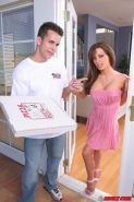 Big boobs beautiful brunette fucking hard a delivery guy