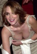 Winona Ryder almost downblouse and showing her tits