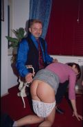 Amateur caning of privately spanked housewife