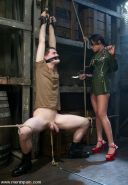 Asian femdom interracial blowjob and tied male slaves cbt in bondage and strict