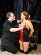 Ginas harsh spanking and corporal punishment whipping in the dungeon for tattooe