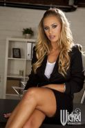 Nicole Aniston screws the security guard on her desk