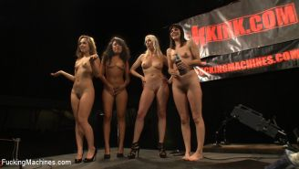 Bobbi Star, Lorelei Lee, Kristina Rose and Annie Cruz fucking each other with hi