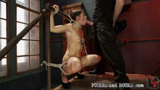 Mia Gold is brutally ass fucked and made to submit while being bound tightly in