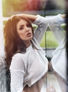 Lucy Pinder stripping her white see-through lingerie for Nuts Magazine