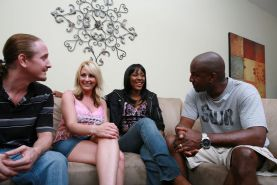 Swingers wifes interracial group sex