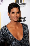 Halle Berry leggy  cleavy in little shiny dress at 'Hollywood Awards' 14th Annua