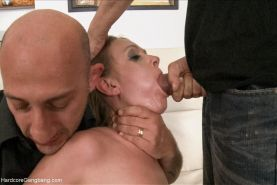 Officer Violet Moon gangabanged and fucked double-anal!